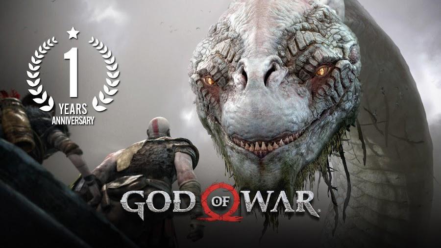 god of war 2018 ps4 1st anniversary kratos and atreus