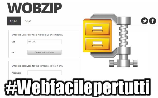 Wopzip | Come estrarre e decomprimere file ZIP Online senza installare programmi sul PC.