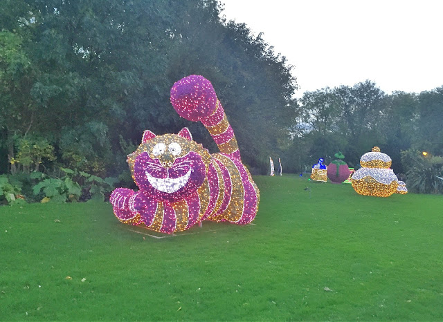 The Cheshire cat from Alice in wonderland Light at Sunderland illumination