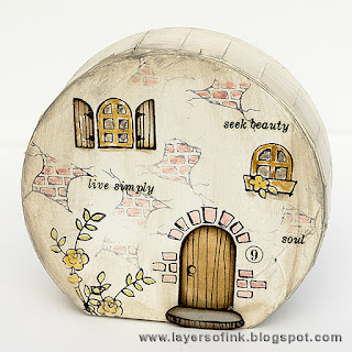 Layers of ink - Fairy Tale Cottage tutorial by Anna-Karin, with dies by Eileen Hull/.