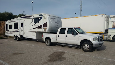 5th wheel transport to Spain