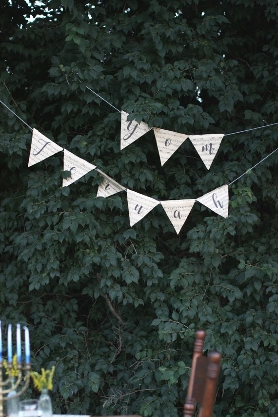 DIY Yom Teruah bunting | Land of Honey