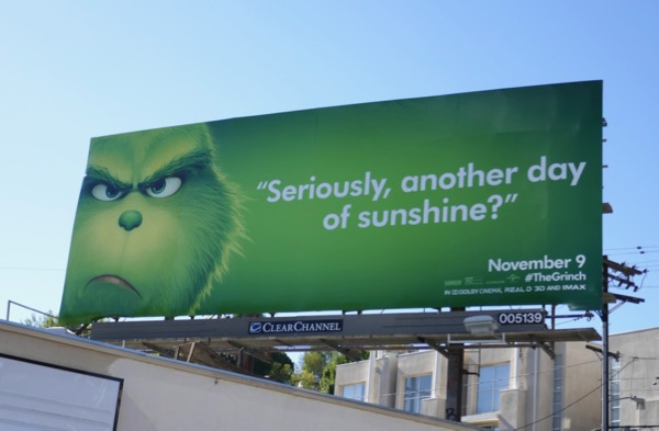 another day sunshine Grinch billboard