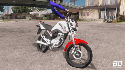 Download , Mod ,Moto , FAN 160 MILGRAU para GTA San Andreas , GTA SA , Jogo PC