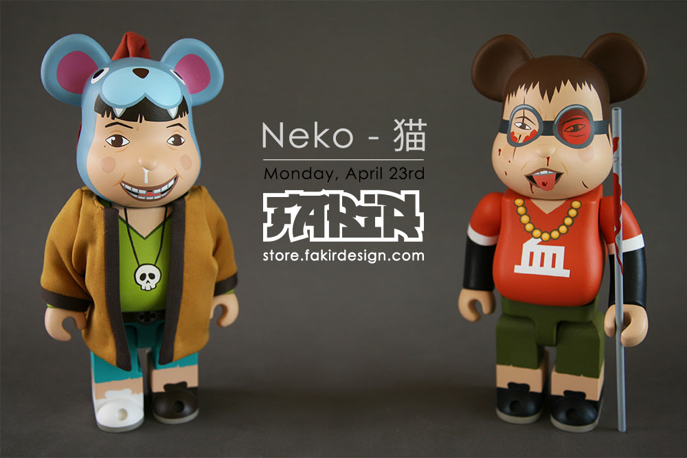 11696b25 Kuro & Shiro 400% Custom BEARBRICK from FAKIR Design for April 20th & 23rd  Release