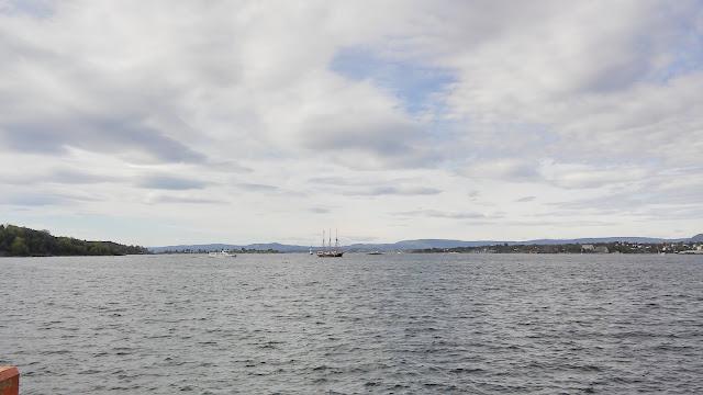 twierdza Akershus w Oslo, morze, zatoka, twierdza Oslo, Norwegia