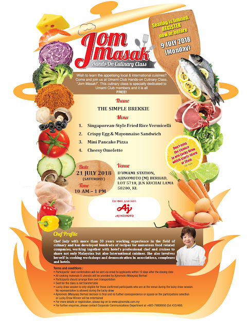 """JomMasak"" hands-on Culinary Class Free"