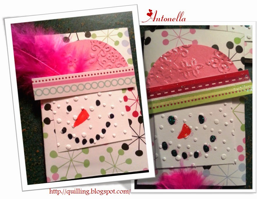 Snow Girl Gift Card Holder, super easy and fun to make from Antonella at www.quilling.blogspot.com