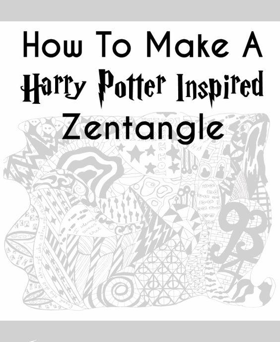 DIY Harry Potter Zentangle