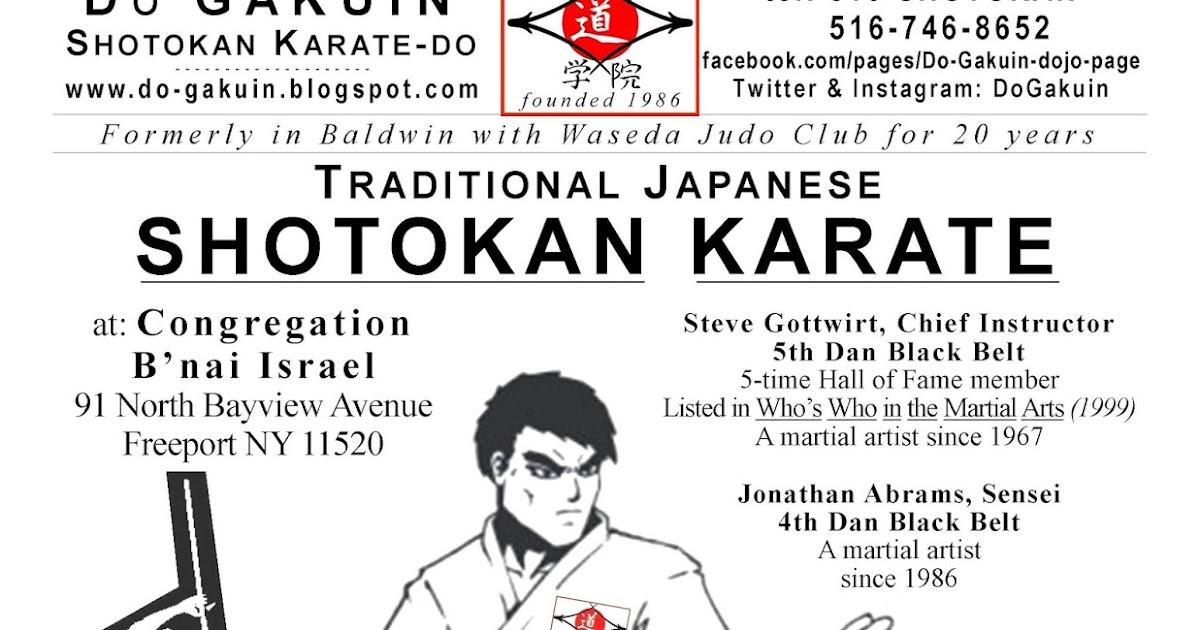 Dō Gakuin Shotokan Karate Do About Us Dojo Flyer
