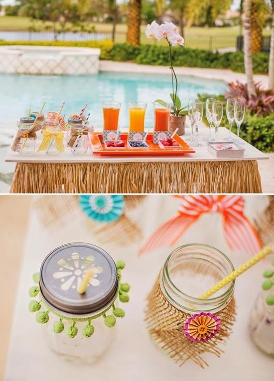 mesa bebidas festa tropical