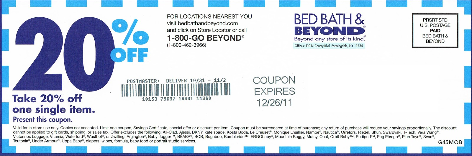 bed bath and beyond coupon 2012 20 at bed bath and beyond 13145