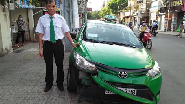 Taxista vietnamita presenció un robo y detuvo al ladrón embistiéndolo