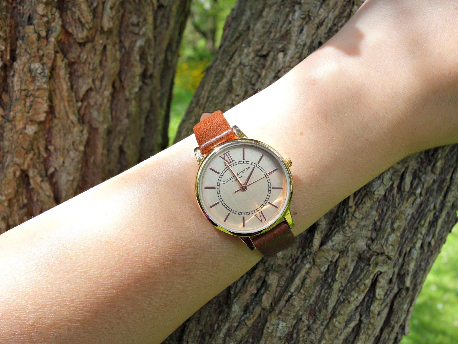 Olivia Burton leather strap watch