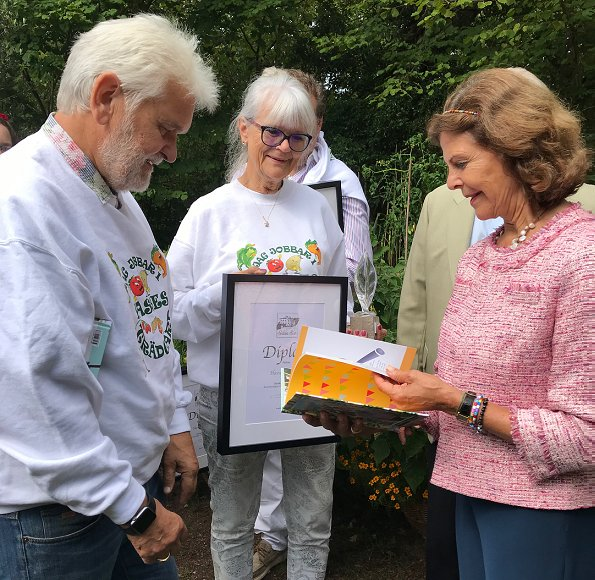 King Carl XVI Gustaf and Queen Silvia attended award ceremony of Solliden 2018 Themed Gardens exhibition. Crown Princess Victoria