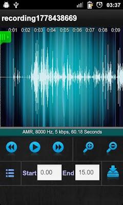 Aplicativo para gravador de audio