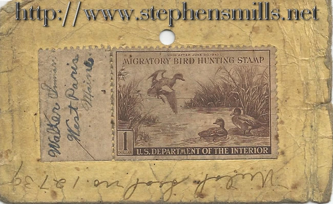 Walter Lorrie Inman's 1942 Duck Stamp, walter inman