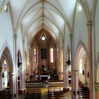 Interior da Igreja Matriz de Nova Bréscia (RS)