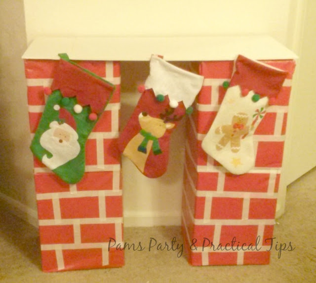 How to make a cardboard box Christmas Mantel