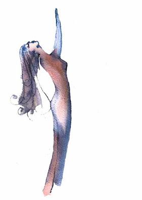 Woman stretching renewal and liberation