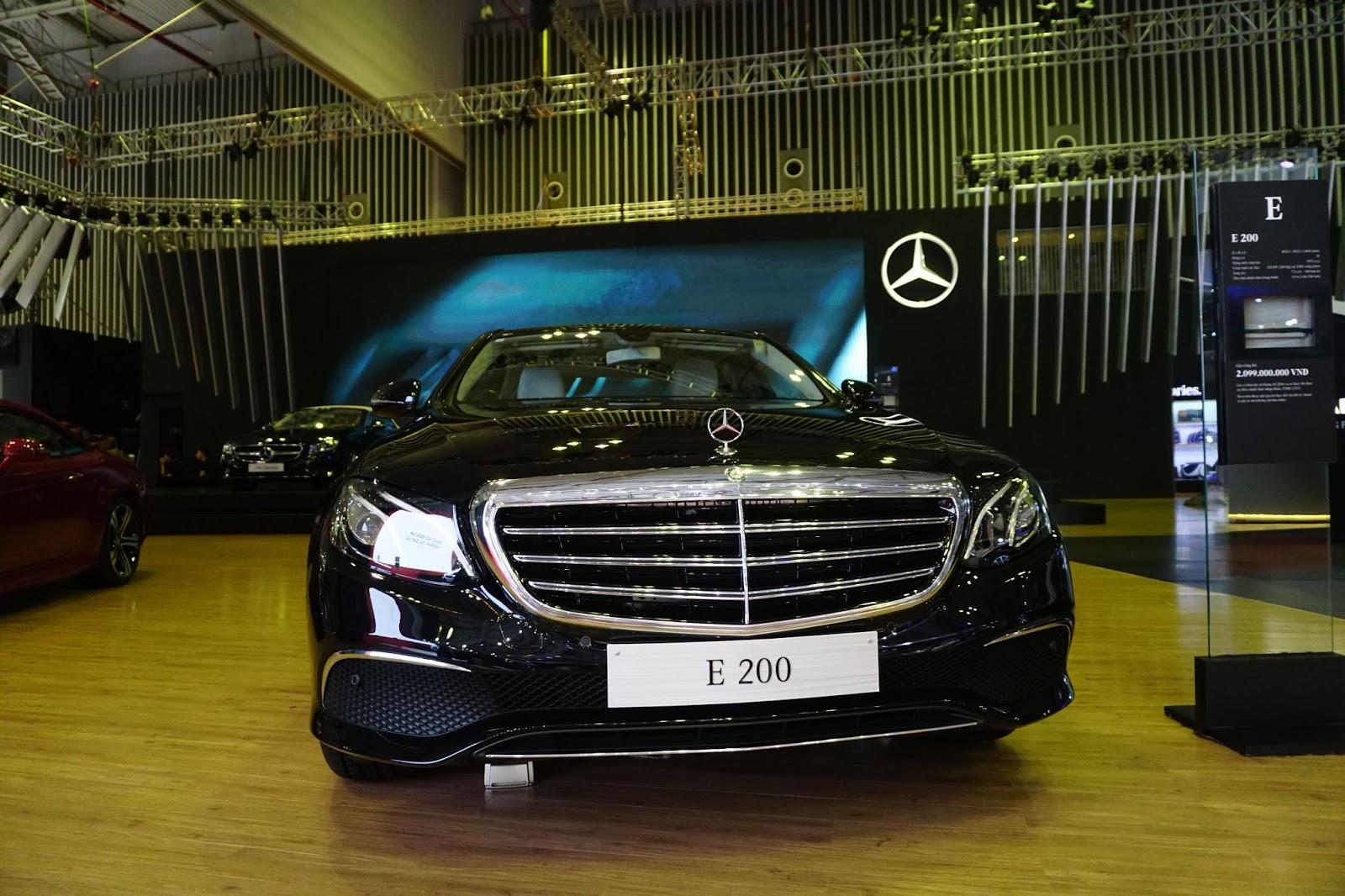 Đầu xe của E200 2016 có nét sang trọng và rất đẳng cấp