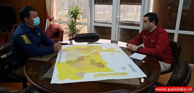 Nuevo Prefecto de la PDI se reunió con el Gobernador de Osorno