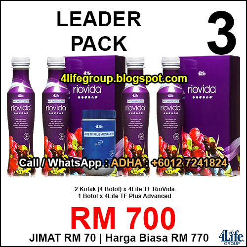 foto Pek TF Plus Riovida Promo Pack - 4Life Malaysia