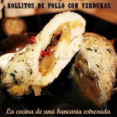 Recetas de rollitos de pollo con verduras