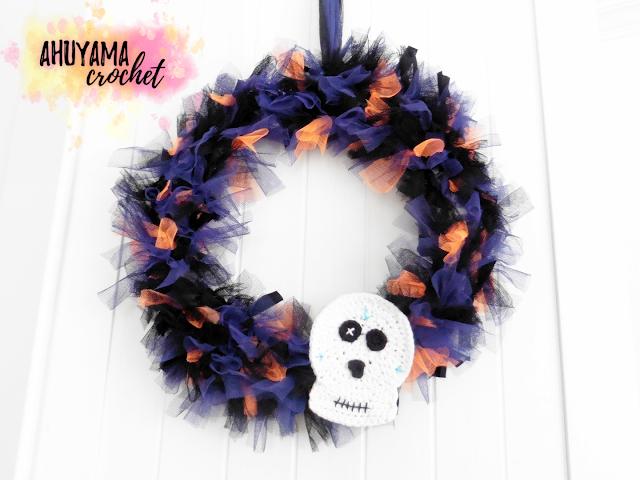 imagen corona de halloween wreath diy
