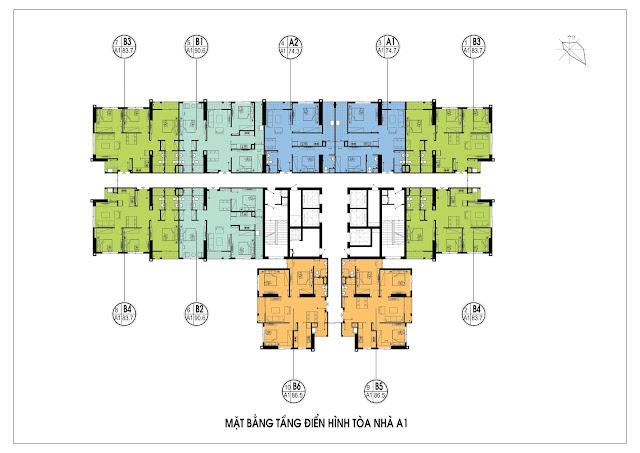 Mặt bằng thiết kế tòa A1 chung cư An Bình City