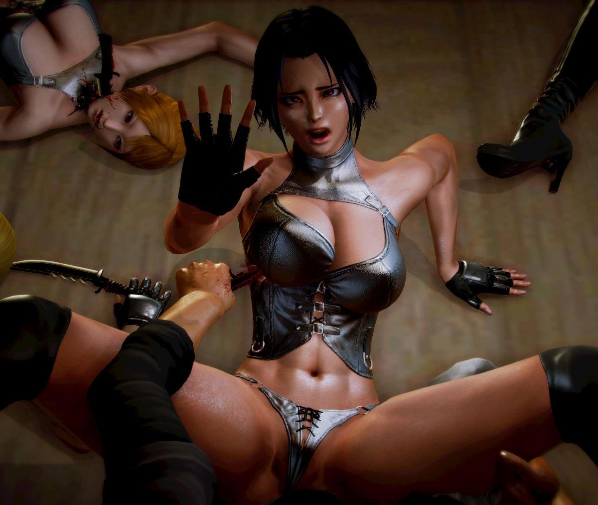 Hình ảnh 044 in Truyện Hentai 3D Nữ chiến binh Ryona