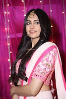 Adaa Sharma in White Pink Saree at Zee Telugu Apsara Awards 2017 19.JPG