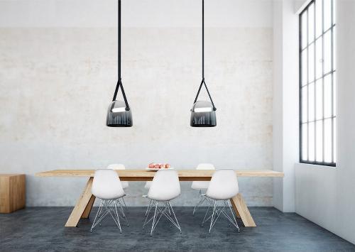 leuchtend grau interior magazin celebrating soft minimalism lampen aus grauem glas. Black Bedroom Furniture Sets. Home Design Ideas