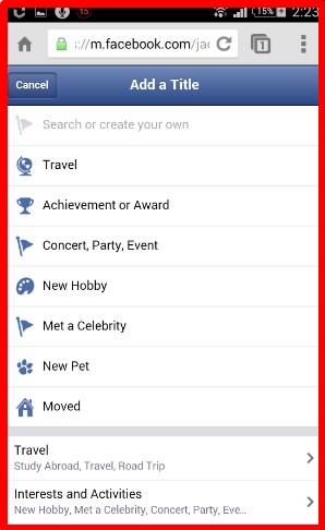 how to create a life event on facebook