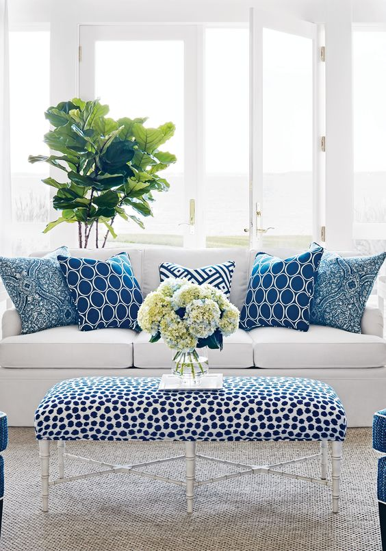 Blue & White Rooms and Very Affordable Blue & White