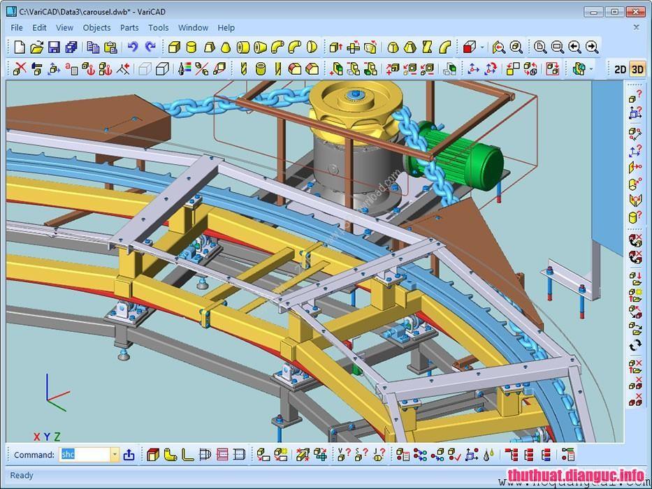 Download VariCAD 2018 v2.06 Full Key – Phần mềm vẽ đồ họa 2D 3D nhẹ nhất