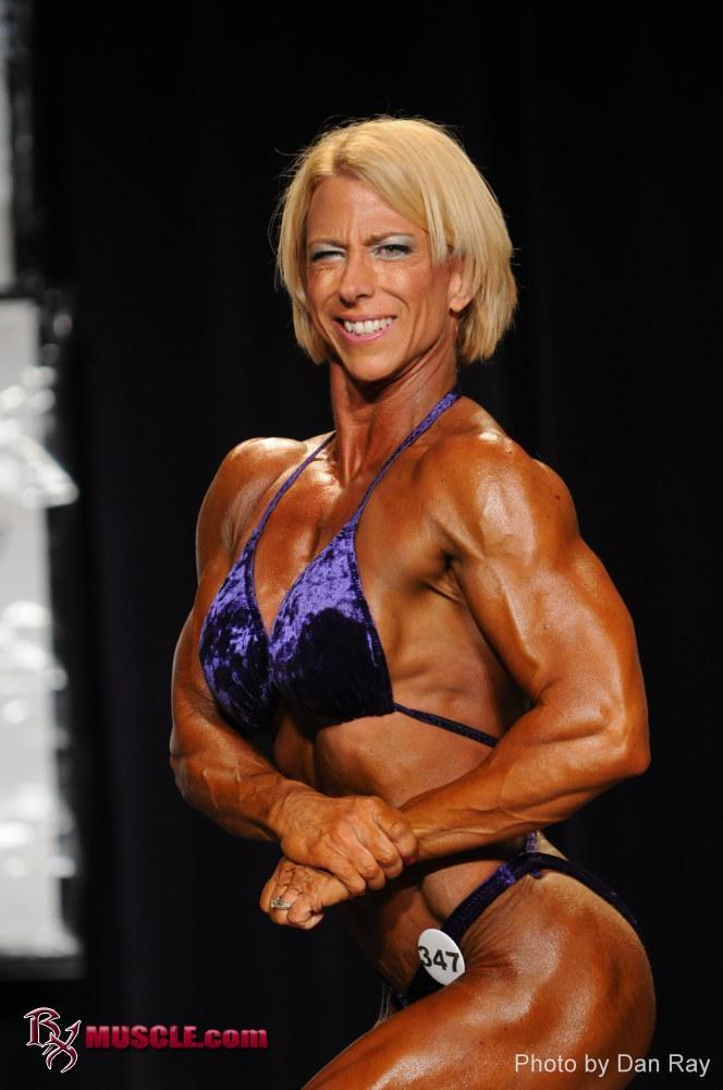 Female Bodybuilder Karen Conley - 2011 IFBB North American Bodybuilding Championships - 14th Place Heavyweight and 13th Place 35+ Masters Heavyweight