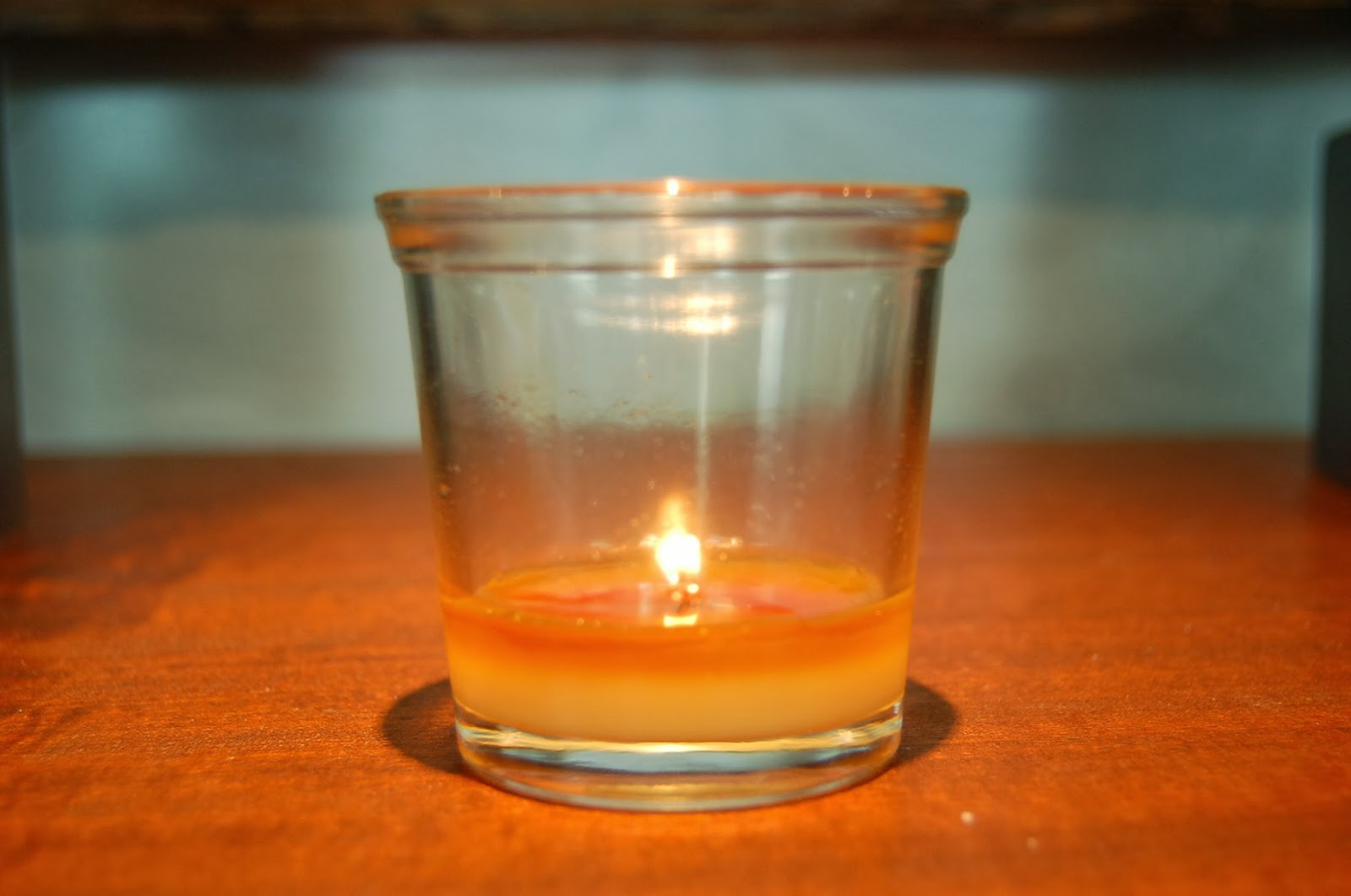 Candle burning evenly completely and cleanly perfection