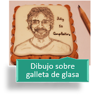 DIBUJO SOBRE GALLETA DE GLASA