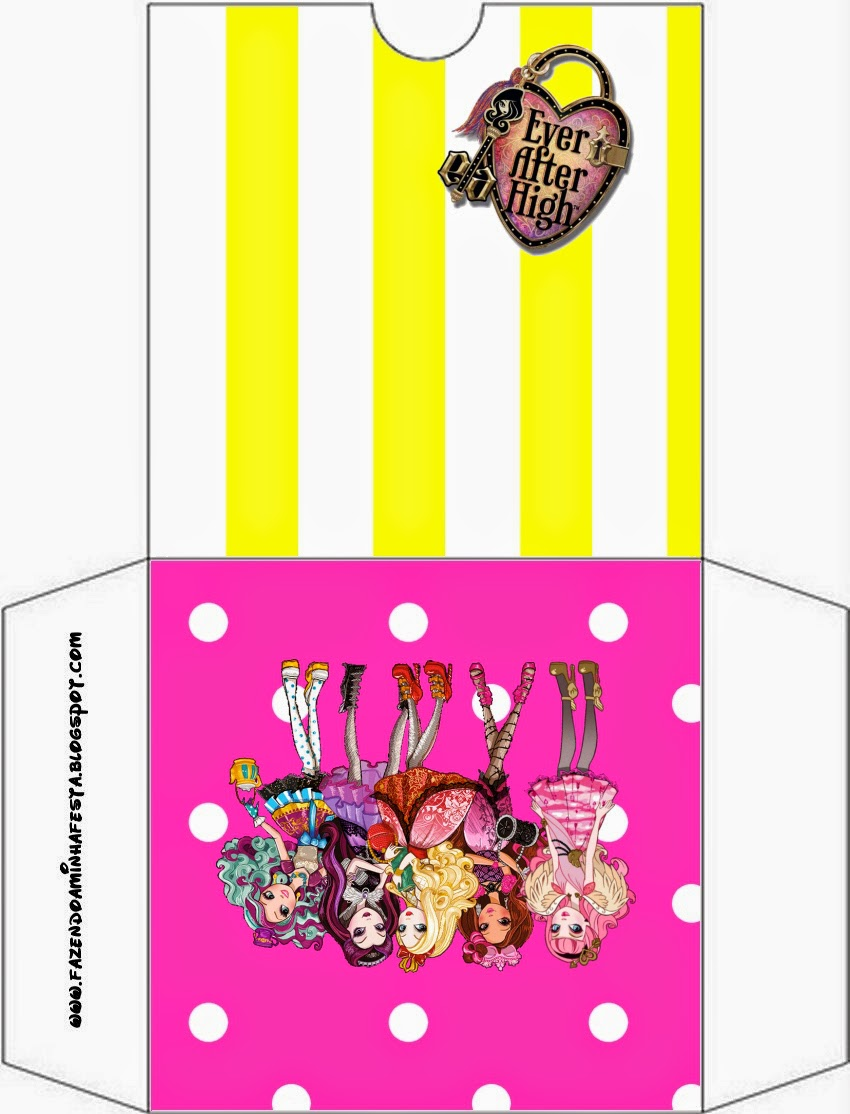 Etiquetas para funda de CD's de Ever After High Amarillo y Rosa.
