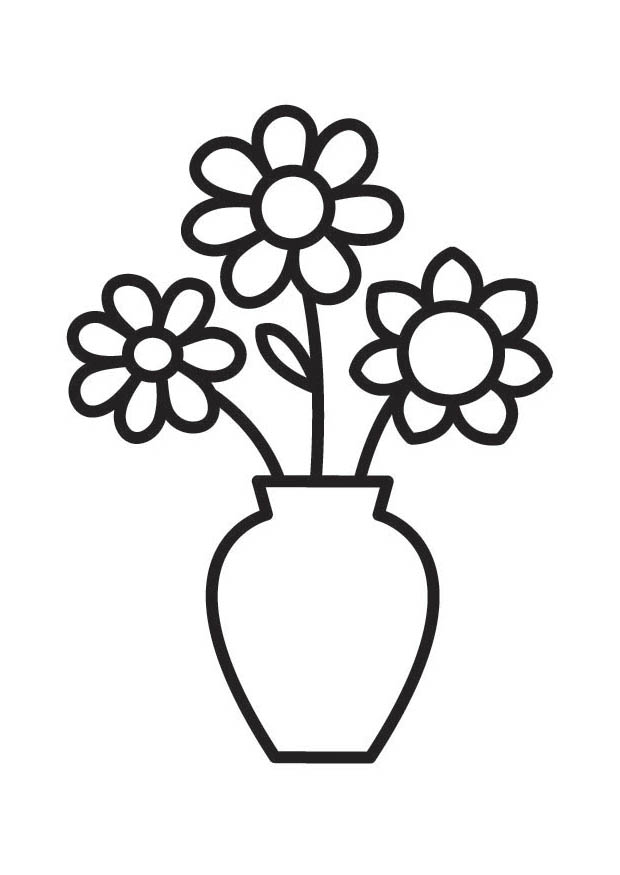 flower vase pictures to color - photo #2