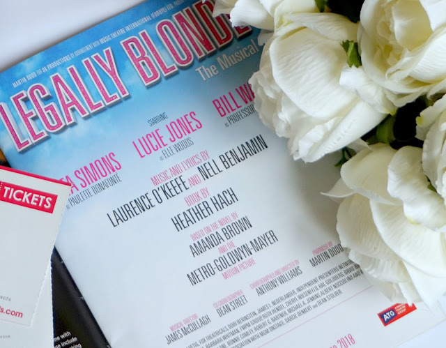 photograph of legally blonde the musical program