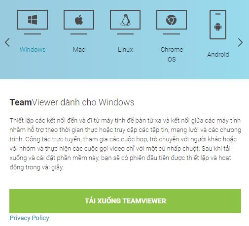 Sử dụng phần mềm Teamviewer
