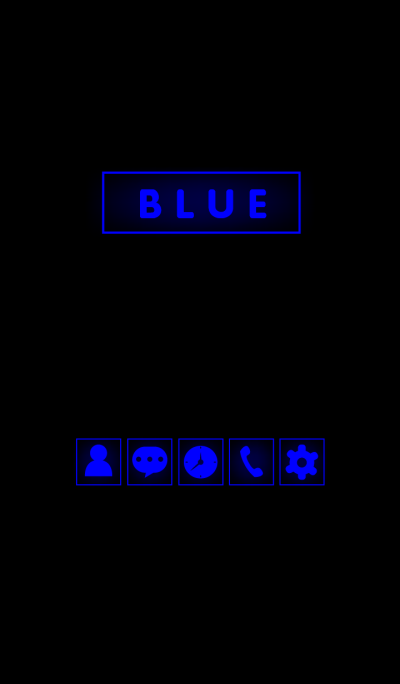 Blue in black theme