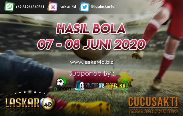 HASIL BOLA JITU TANGGAL 07 – 08 JUNI 2020