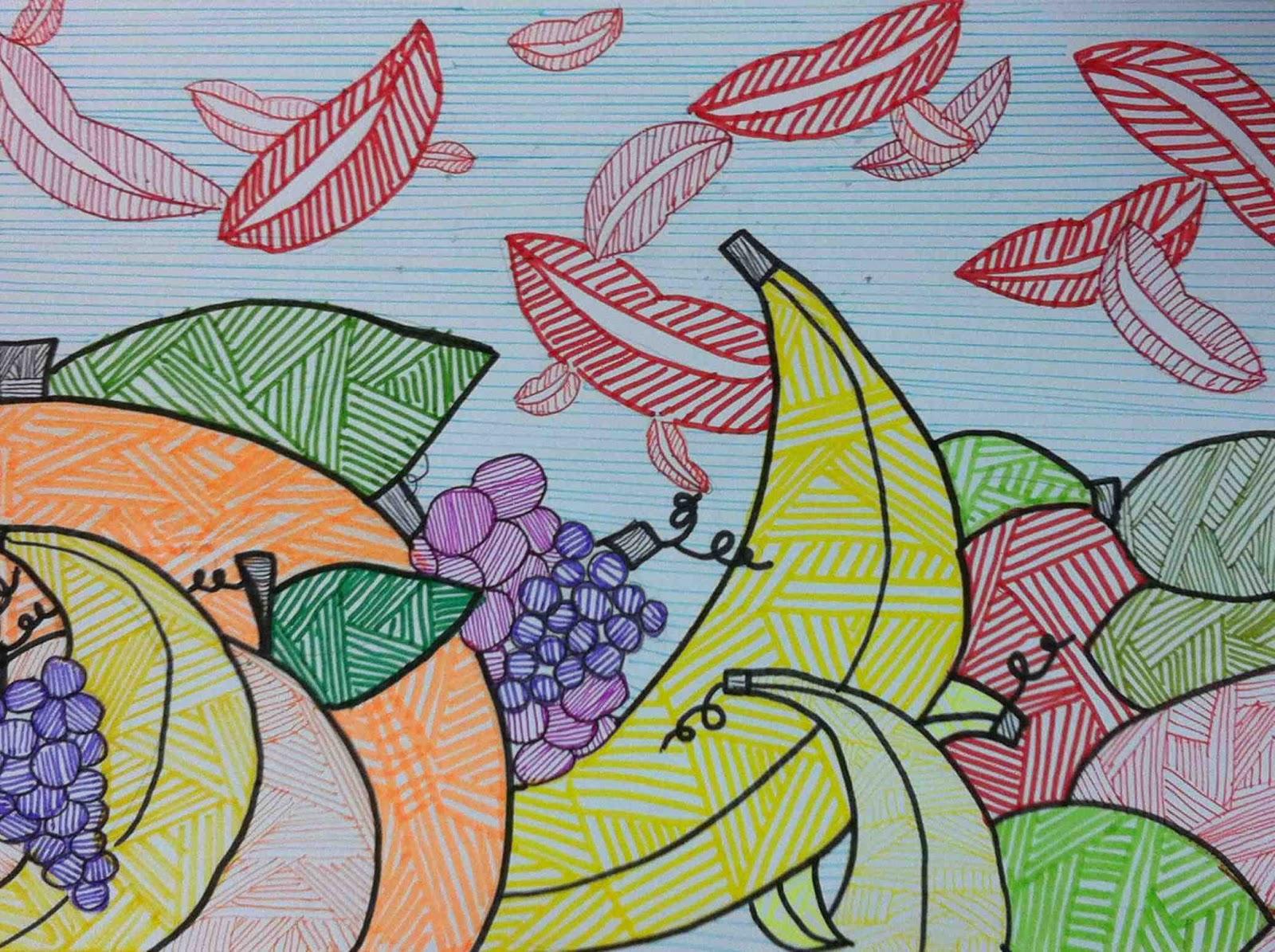 Dibujo De Lineas Paisaje: Conlineo Dibujos De Paisajes En Lineas