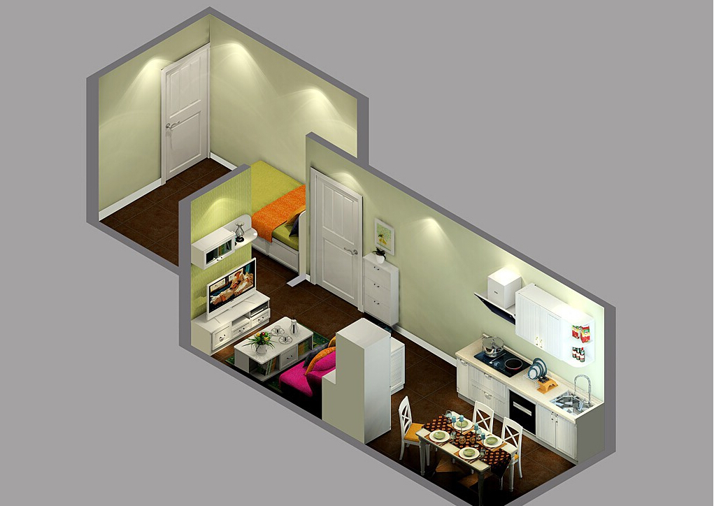 Overlooking-a-small-rustic-house-in-Korea 35 Sky View 4D American House Plan Styles Interior