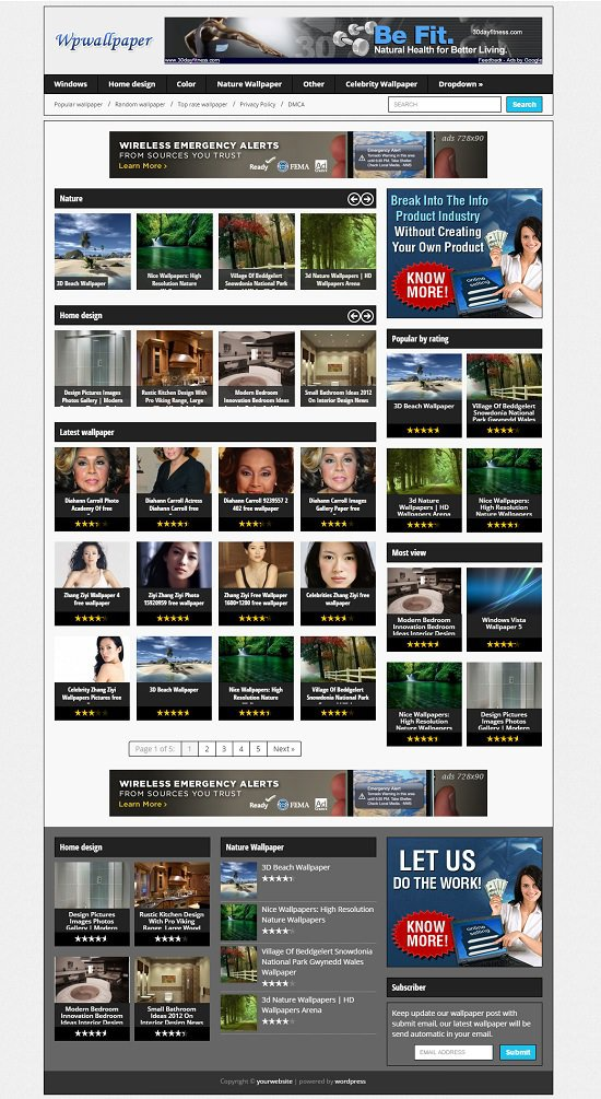 WallPaper WordPress theme Download Free Version Canada