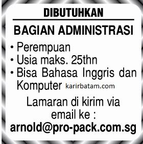 Lowongan Kerja PT. Pro Pack Indonesia