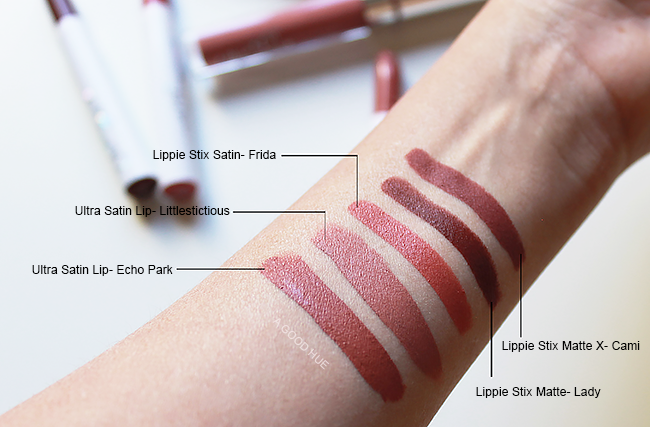 ColourPop Satin Lip & Lippie Stix Swatches